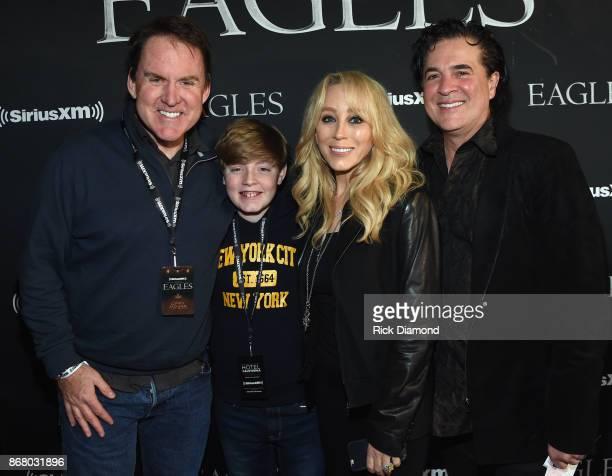 Brian Philips and Son with Scott Borchetta and Sandi Spika Borchetta of the Big Machine Label Group attend SiriusXM presents the Eagles in their...