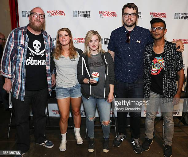 Brian Posehn Shelby Fero Ashley Johnson Jonah Ray and Utkarsh Ambudkar attend DD Live From Meltdown Comics Comics and Collectibles on June 1 2016 in...