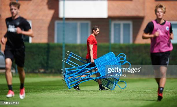 Brian Priske assistant coach of FC Copenhagen in action during the FC Copenhagen training session at KB's baner on June 20 2017 in Frederiksberg...