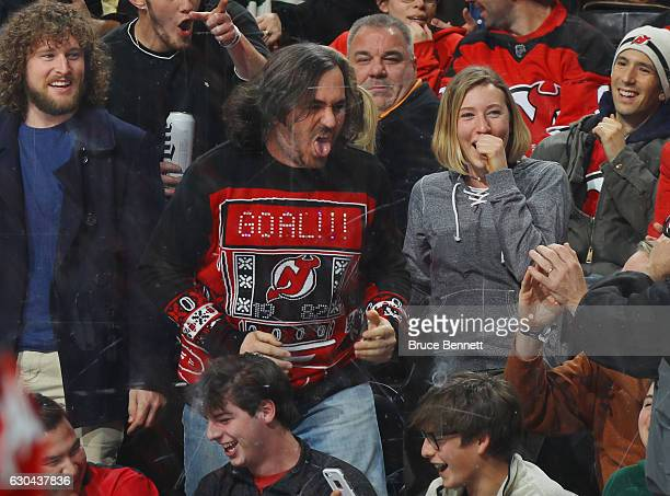 Brian Q Quinn of the Impractical Jokers TV show attends the game between the New Jersey Devils and the Philadelphia Flyers at the Prudential Center...