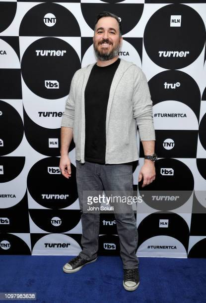 Brian Q Quinn of 'The Misery Index' poses in the green room during the TCA Turner Winter Press Tour 2019 at The Langham Huntington Hotel and Spa on...