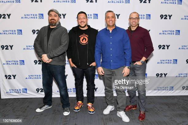 "Brian ""Q"" Quinn Sal Vulcano Joe Gatto and James ""Murr"" Murray attend Impractical Jokers The Movie A Conversation With The Tenderloins at 92nd Street..."