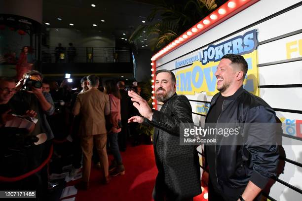 Brian Quinn and Sal Vulcano attends the Impractical Jokers The Movie Premiere Screening and Party on February 18 2020 in New York City 739100