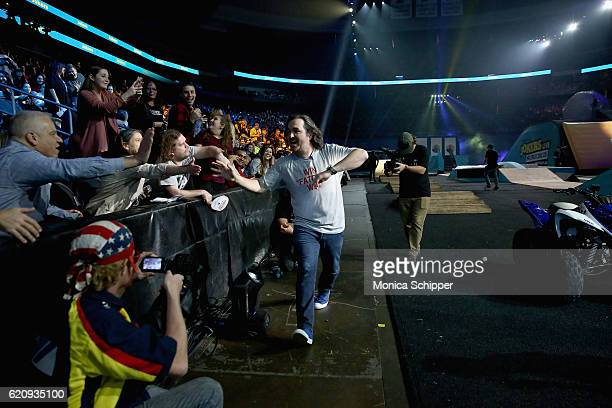 Brian Quinn attends the Impractical Jokers Live Nitro Circus Spectacular at Prudential Center on November 3 2016 in Newark New Jersey...