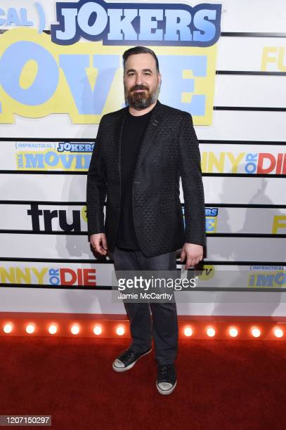 Brian Quinn attends the screening of Impractical Jokers The Movie at AMC Lincoln Square Theater on February 18 2020 in New York City