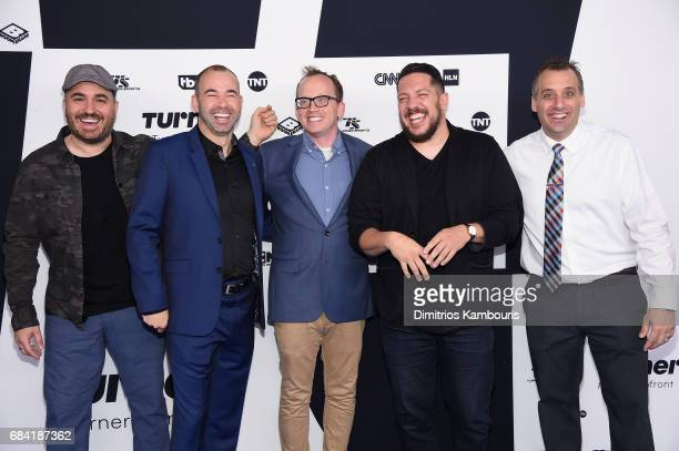 Brian Quinn James Murray Chris Gethard Sal Vulcano and Joe Gatto attend the Turner Upfront 2017 arrivals on the red carpet at The Theater at Madison...