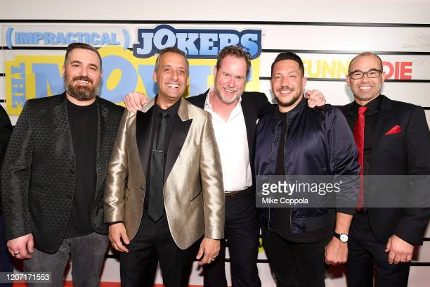 Brian Quinn Joe Gatto Chris Henchy Sal Vulcano and James Murray attend the Impractical Jokers The Movie Premiere Screening and Party on February 18...