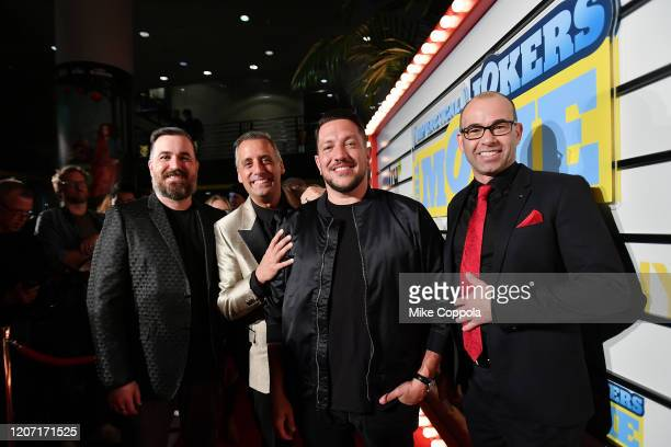Brian Quinn Joe Gatto Sal Vulcano and James Murray attend the Impractical Jokers The Movie Premiere Screening and Party on February 18 2020 in New...