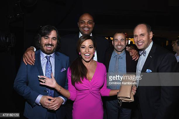 Brian Quinn Robin Meade Charles Barkley James Murray and Ernie Johnson attend the Turner Upfront 2015 at Madison Square Garden on May 13 2015 in New...
