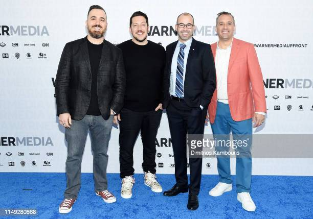 Brian Quinn Sal Vulcano James Murray and Joe Gatto of truTV's Impractical Jokers and TBS's Misery Index attend the WarnerMedia Upfront 2019 arrivals...