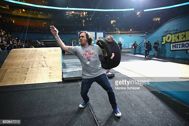 Brian Quinn speaks during the Impractical Jokers Live Nitro Circus Spectacular at Prudential Center on November 3 2016 in Newark New Jersey...