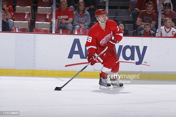 Brian Rafalski of the Detroit Red Wings skates against the San Jose Sharks in Game Four of the Western Conference Semifinals during the 2011 NHL...