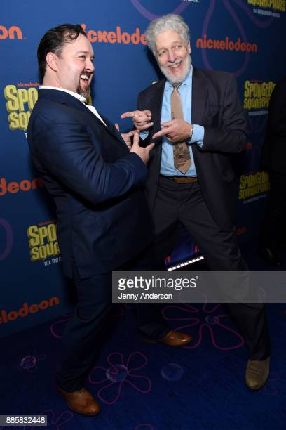 Brian Ray Norris and Clancy Brown attend opening night of Nickelodeon's SpongeBob SquarePants The Broadway Musical after party at Ziegfeld Ballroom...