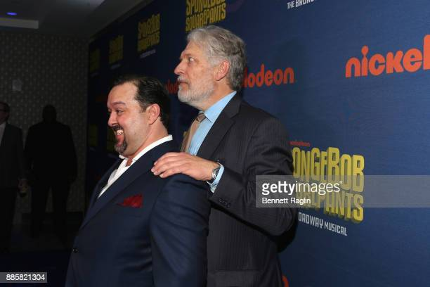 Brian Ray Norris and Clancy Brown attend the opening night of Nickelodeon's SpongeBob SquarePants The Broadway Musical after party at Ziegfeld...