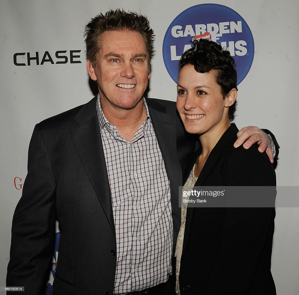 Brian Regan and his wife attends
