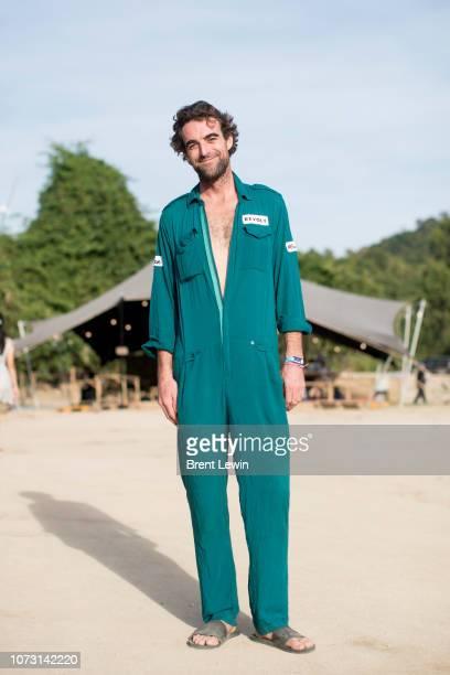 Brian Reilley wearing his work uniform at Wonderfruit 2018 on December 14 2018 in Pattaya Thailand