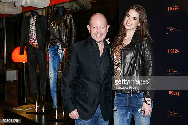 Brian Rennie and Beate Igel during the launch dinner of his new collection 'Brian by Brian Rennie' for HSE24 on February 2 2016 in Munich Germany The...