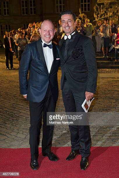 Brian Rennie and Ferdinand Rennie attend the Bayreuth Festival Opening State Banquet on July 25 2014 in Bayreuth Germany