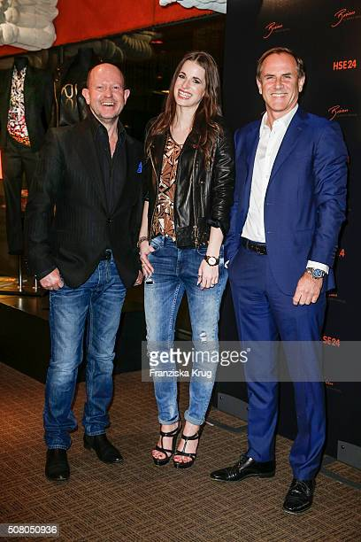 Brian Rennie Beate Igel and Richard Reitzner during the launch dinner of Brian Rennie's new collection 'Brian by Brian Rennie' for HSE24 on February...