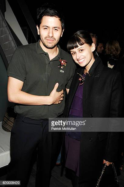 Brian Reyes and Lisa Mayock attend CFDA New Members Party Hosted by ELIE and RORY TAHARI at The Tahari Residence on October 7 2008 in New York City