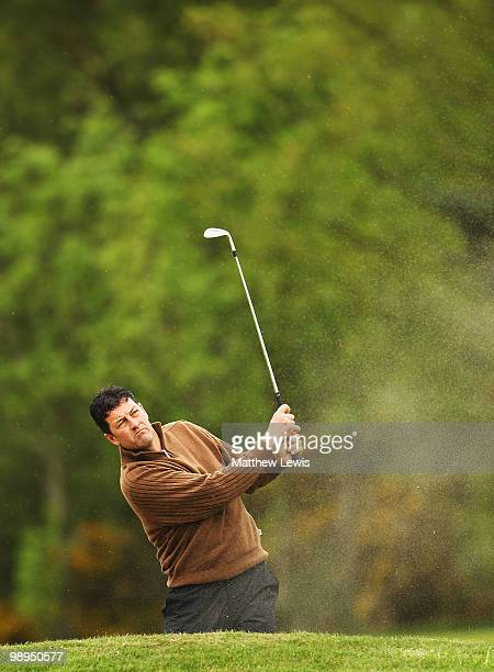 Brian Rimmer of Little Aston plays a shot from the 18th fairway during the Glenmuir PGA Professional Championship Regional Qualifier at Moortown Golf...
