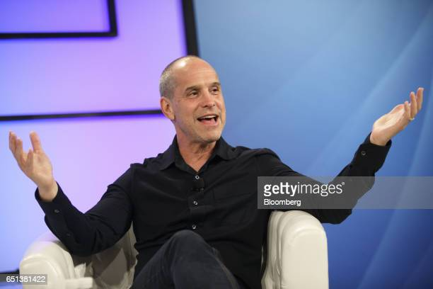 Brian Robbins cofounder and former chief executive officer of AwesomenessTV Inc speaks during the Montgomery Summit in Santa Monica California US on...
