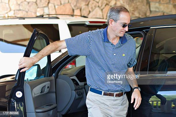 Brian Roberts chairman and chief executive officer of Comcast Corp arrives at the Allen Co Media and Technology Conference in Sun Valley Idaho US on...