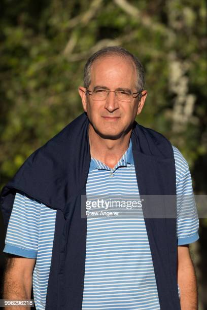 Brian Roberts chief executive officer of Comcast arrives for a morning session at the annual Allen Company Sun Valley Conference July 11 2018 in Sun...