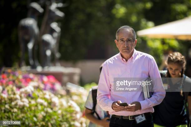 Brian Roberts chief executive officer of Comcast attends the annual Allen Company Sun Valley Conference July 12 2018 in Sun Valley Idaho Every July...