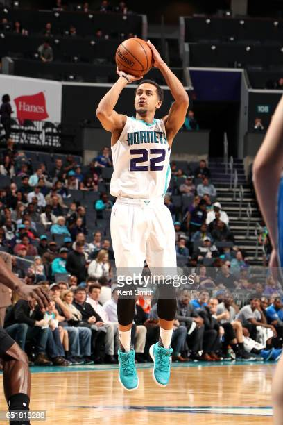 Brian Roberts of the Charlotte Hornets shoots the ball during the game against the Orlando Magic on March 10 2017 at Time Warner Cable Arena in...