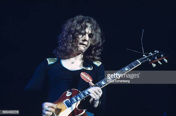 Brian Robertson of Thin lizzy performs on stage United Kingdom 1977