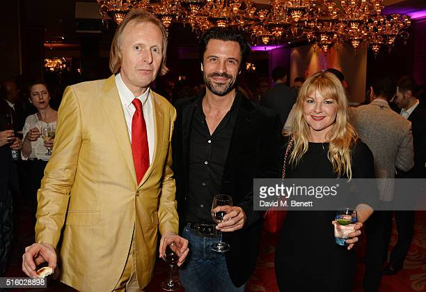 Brian Robinson Christian Vit and Sarah Hadland attend the after party following the UK Premiere of The Pass the opening night film of BFI Flare The...