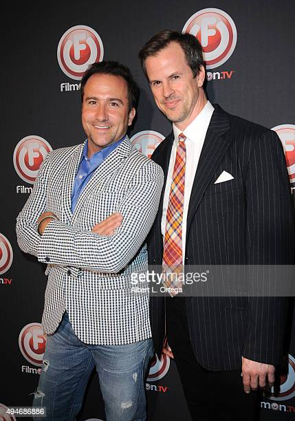 Brian Rodda and Andrew Boyle arrive for the Premiere Of FilmOnTV's Bob Thunder Internet Assassin held at the Egyptian Theatre on October 27 2015 in...
