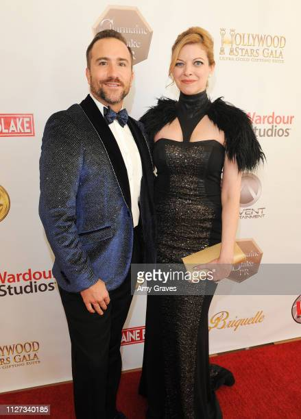 Brian Rodda and Hilary Barraford attend the Charmaine Blake and the HOLLYWOOD STARS GALA™ Oscar® Viewing Party at The Beverly Hilton Hotel on...