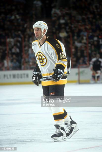 Brian Rolston of the Boston Bruins skates on the ice during an NHL game against the Philadelphia Flyers on March 19, 2000 at the Wells Fargo Center...