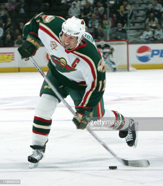 Brian Rolston of the Minnesota Wild during the game against the Colorado Avalanche on February 28 2006 at Pepsi Center in Denver Colorado