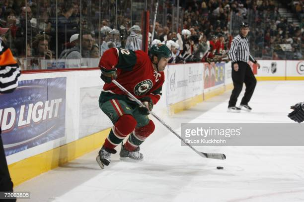 Brian Rolston of the Minnesota Wild skates against the Vancouver Canucks during a game at Xcel Energy Center on November 2 2006 in Saint Paul...