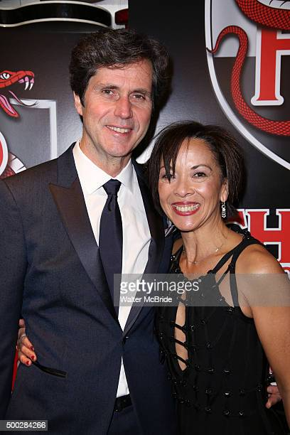Brian Ronan and JoAnn M Hunter attends the Broadway Opening Night Performance After Party for 'School of Rock' at the Hard Rock Cafe on December 6...
