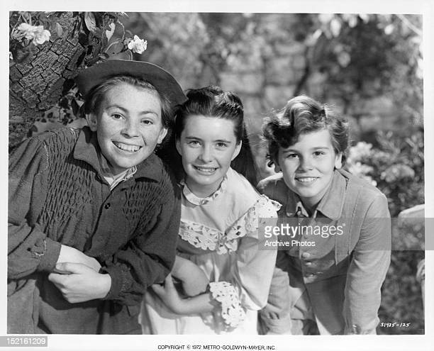 Brian Roper Margaret O'Brien and Dean Stockwell all smile in a promotional portrait for the film 'The Secret Garden' 1949