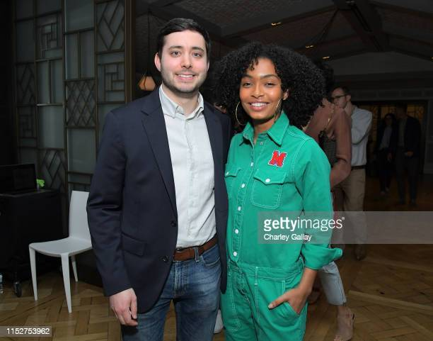 Brian Rosenthal and Yara Shahidi attend FX and The New York Times' The Weekly event at The London Hotel on May 30 2019 in West Hollywood California