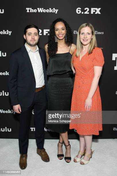 Brian Rosenthal Caitlin Dickerson and Emma Fitzsimmons attend The Weekly New York Premiere at Florence Gould Hall Theater on May 15 2019 in New York...