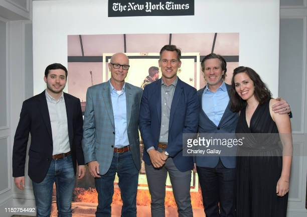 Brian Rosenthal Dan Barry Jonathan Frank Jason Stallman and Suzanne Hillinger attend FX and The New York Times' The Weekly event at The London Hotel...