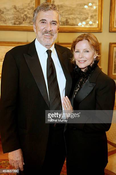 Brian Russell and actress Cheryl Ladd attend the cocktail reception held at Palazzo Spini Feroni, built in the 13th Century and home to the Museo...