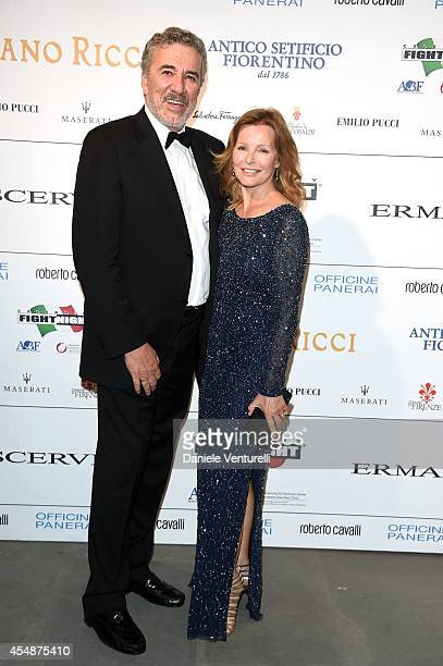Brian Russell and Cheryl Ladd attend 'Celebrity Fight Night In Italy' Gala at the Palazzo Vecchio on September 7 2014 in Florence Italy