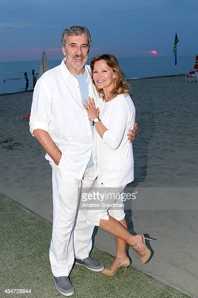 Brian Russell and Cheryl Ladd attend the White Cocktail Party Celebrating Celebrity Fight Night In Italy Benefitting The Andrea Bocelli Foundation...