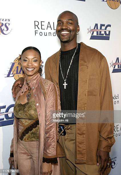 Brian Russell and wife Kim Russell during Shaquille O'Neal Hosts PreSeason Party to Benefit the Lakers Youth Foundation at The New Avalon in...