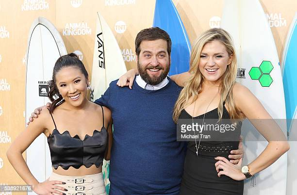 Brian Sacca Jessica Lowe and Ally Maki arrive at the Los Angeles premiere of TNT's Animal Kingdom held at The Rose Room on June 8 2016 in Venice...