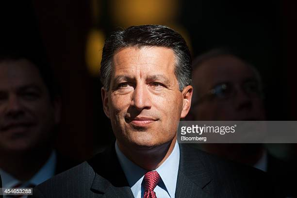 Brian Sandoval governor of Nevada attends a news conference at the Nevada State Capitol building in Carson City Nevada US on Thursday Sept 4 2014...