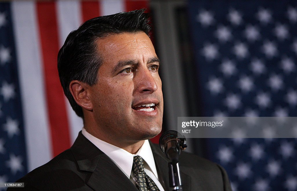 Brian Sandoval, Republican nominee for governor in Nevada, speaks to a women's group on Friday, October, 15, 2010, in Mesquite, Nevada.