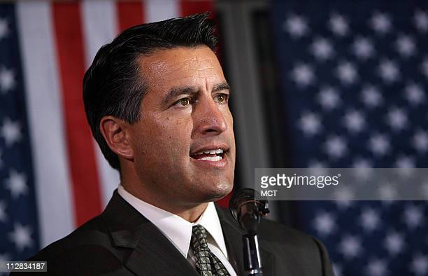 Brian Sandoval Republican nominee for governor in Nevada speaks to a women's group on Friday October 2010 in Mesquite Nevada